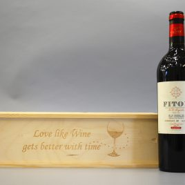 Love like wine gets better with time Wooden Wine / Spirit / Champagne Box