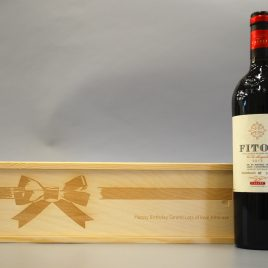 Personalised Bow Wooden Wine, Spirit, Champagne Box ideal Gift for any Occasion