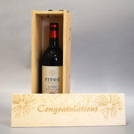 Personalised Congratulations Wooden Wine / Spirit / Champagne Box