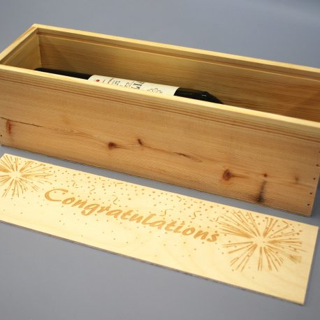 Congratulations Wine Box open