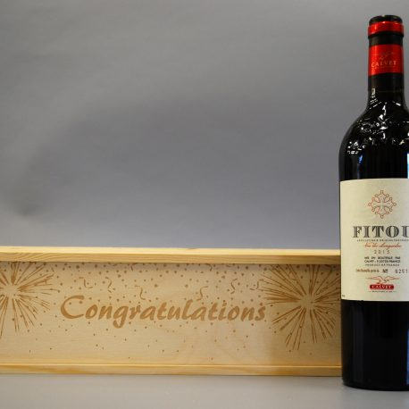 Congratulations With Wine bottle
