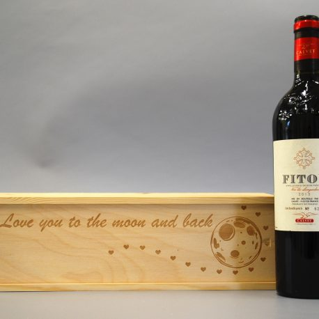 I love you to the moon and back with Wine bottle