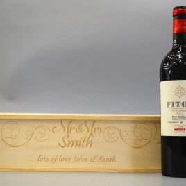 Personalised Mr & Mr's Wooden Wine / Spirit / Champagne Box ideal Wedding Gift